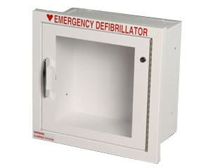 fully recessed AED cabinet