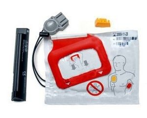 Physio Control LIFEPAK CR Plus and EXPRESS AED Battery and Pads Kit 11403-000002 (1 Set)