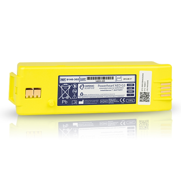 yellow replacement battery for powerheart AED g3 9146-302