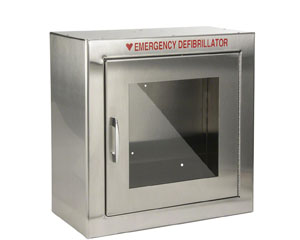ZOLL AED cabinet for the ZOLL AED Plus defibrillators