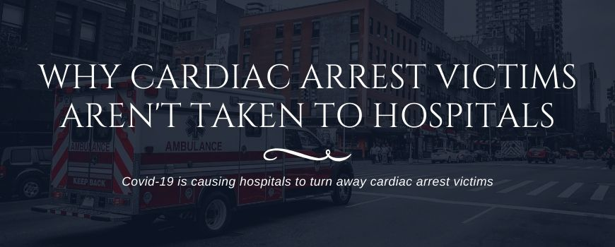 ambulance transporting cardiac arrest victim to hospital